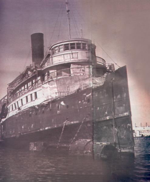 Die Exodus 1947 im Hafen von Haifa
