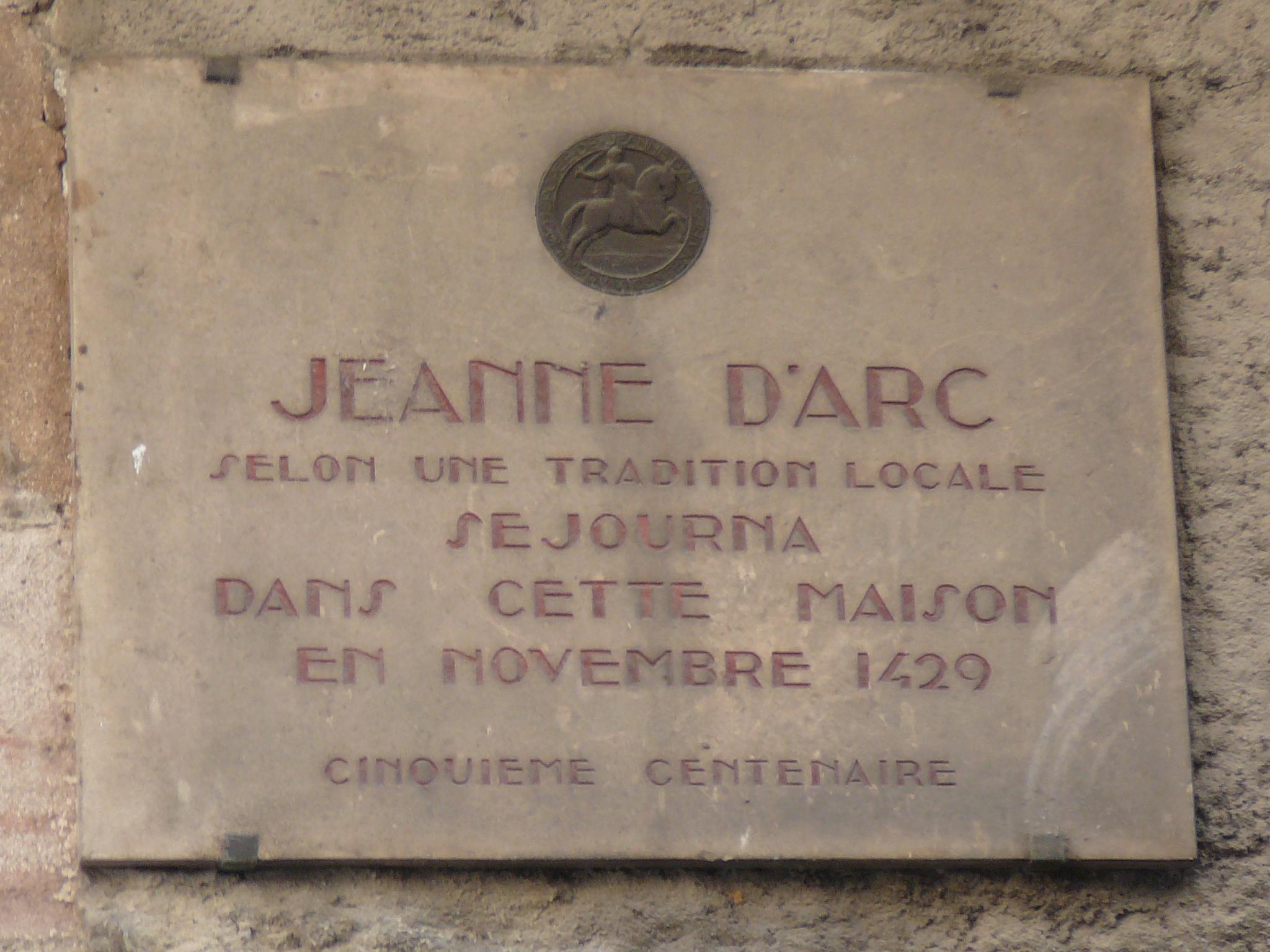 File plaque comm morative maison de jeanne d 39 arc moulins for Plaque nom de maison