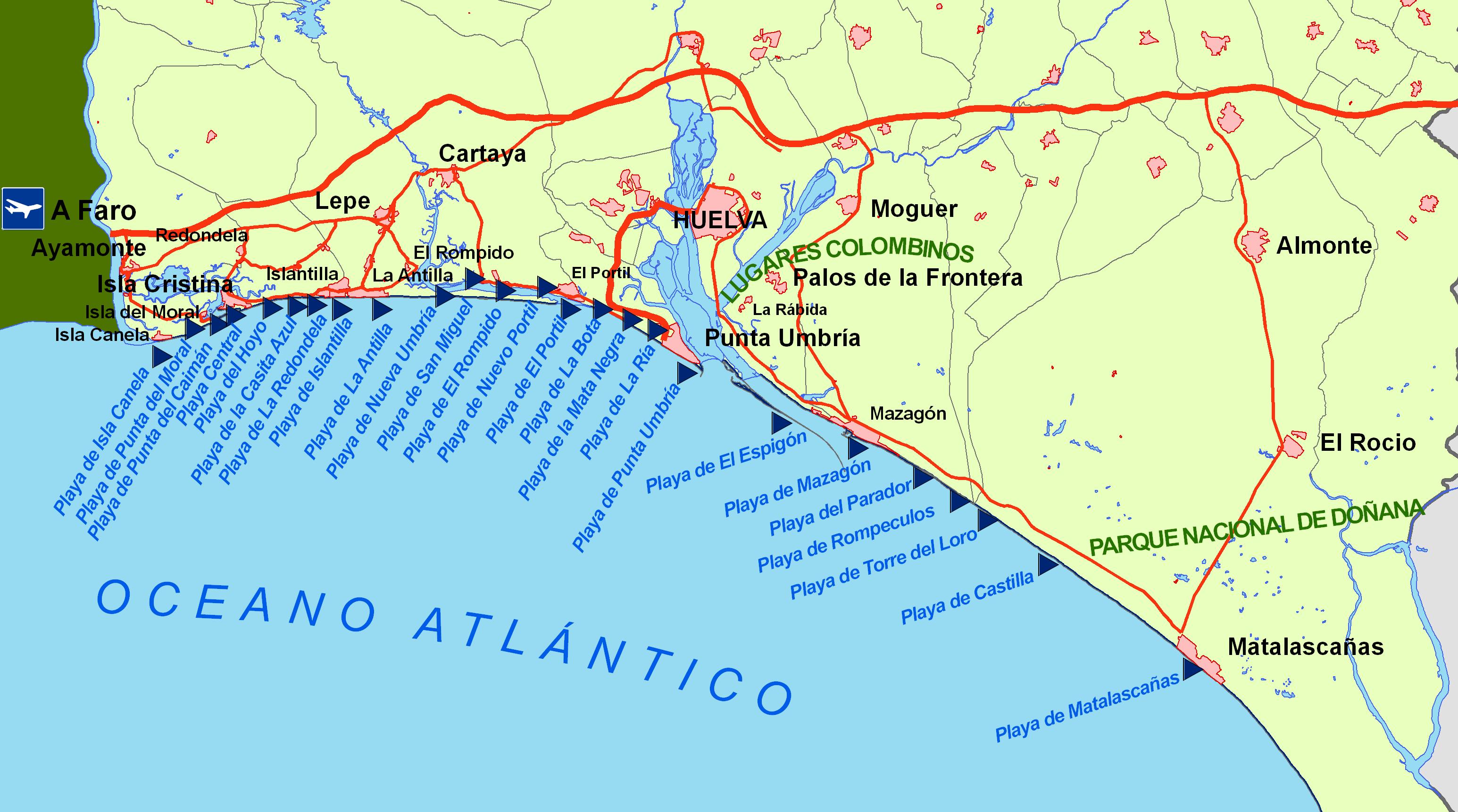 Karte Playa De Palma Hotels