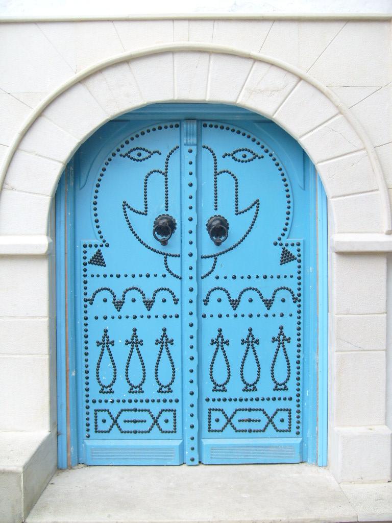 Les portes de sidi bou said tunisie for Decoration porte sidi bou said