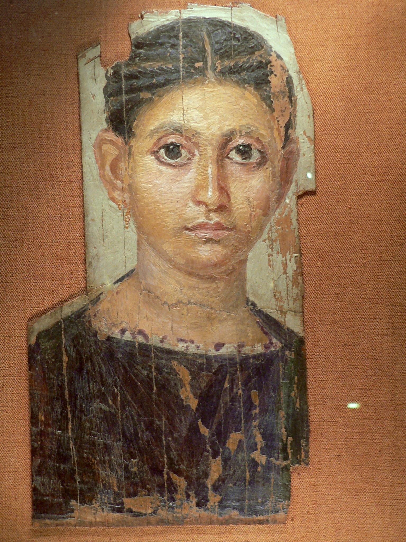 Portrait du Fayoum utilisant de la peinture à  la cire