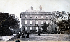 Potternewton Hall c. 1860. Members of the Lupton family in the foreground