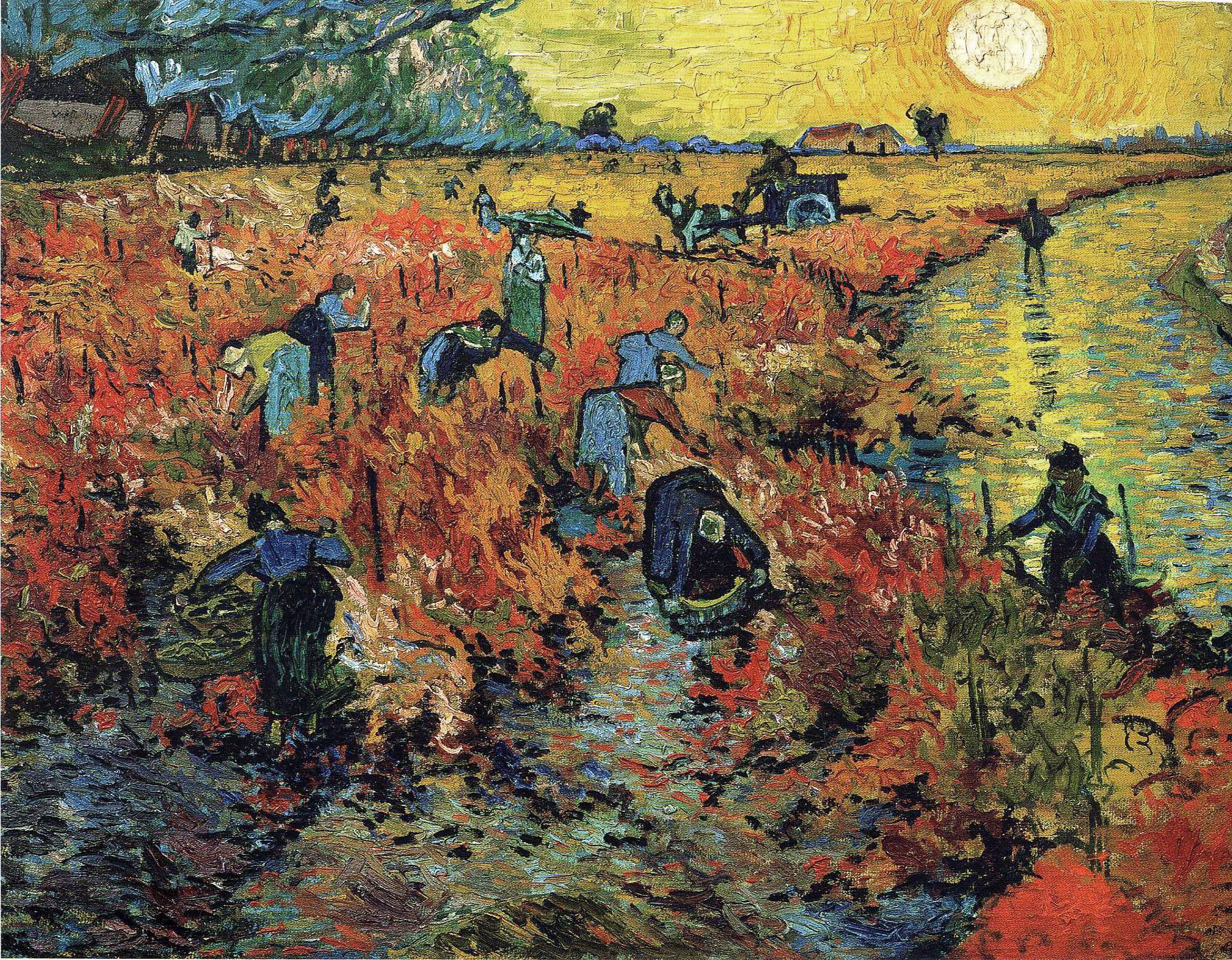 The Red Vineyard by Vincent van Gogh (1888)
