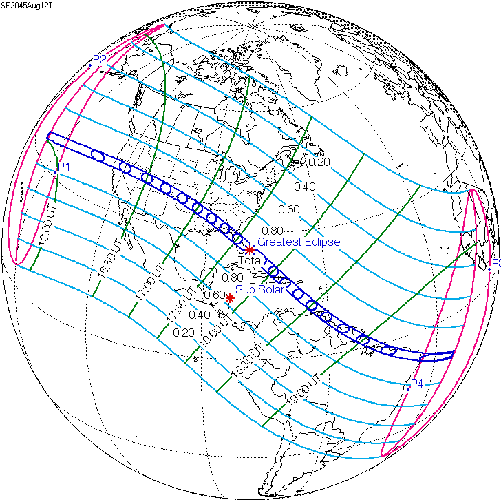 Current Eclipse Map.Solar Eclipse Of August 12 2045 Wikipedia
