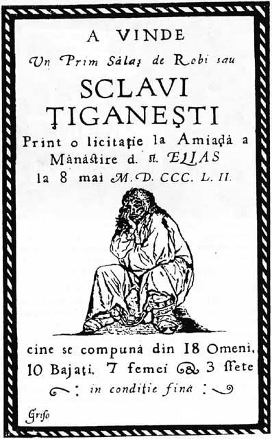 An 1852 Wallachian poster advertising an aucti...
