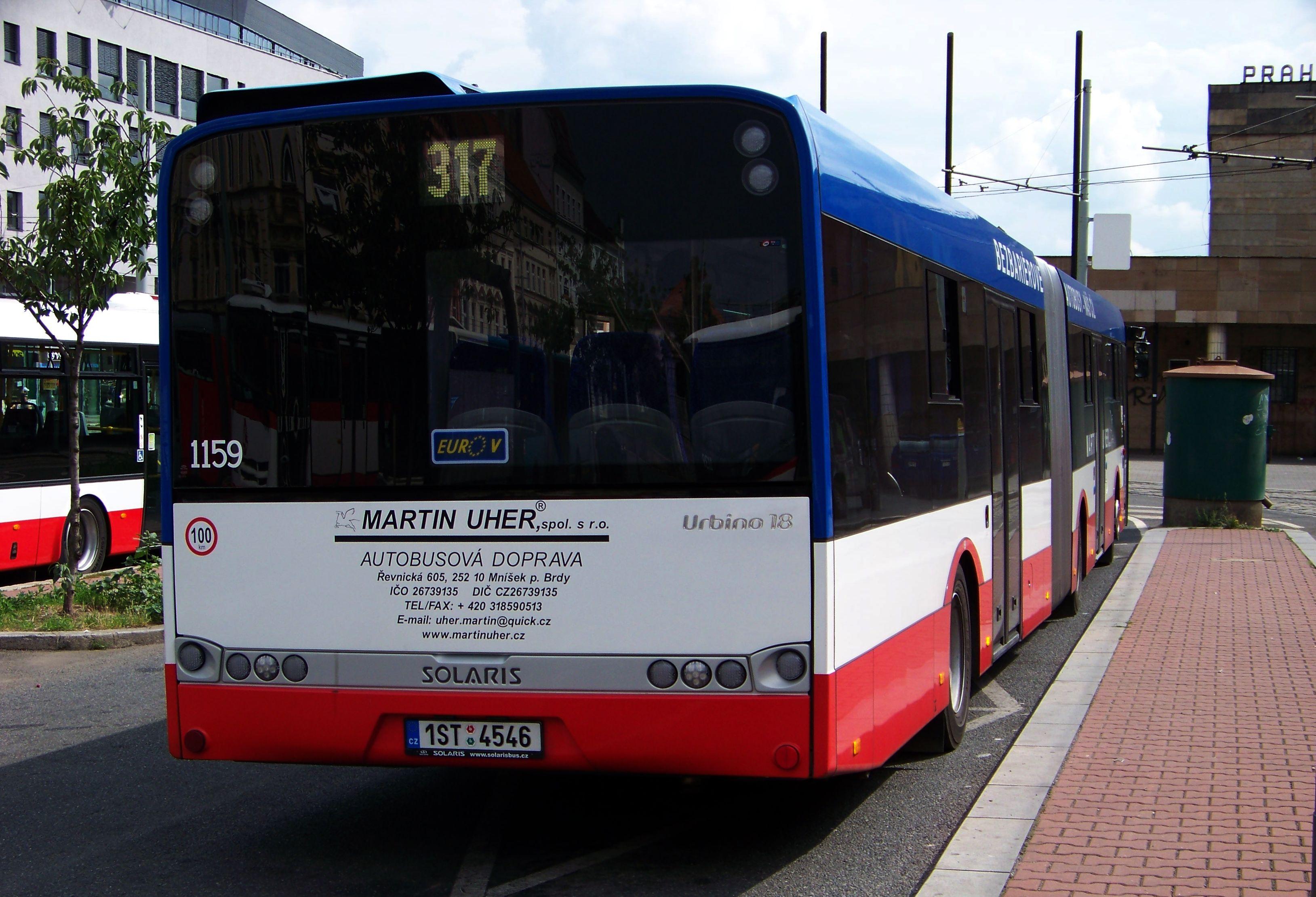 File:Smíchovské nádraží, Solaris Urbino 18, Martin Uher, 1159, zezadu.