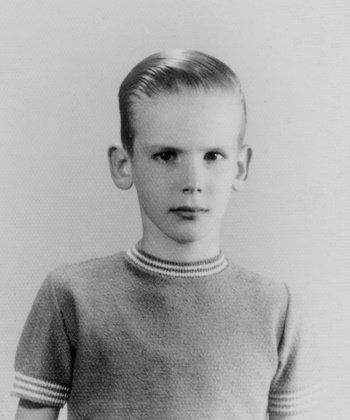 Spinetta en su niñez, años cincuenta.
