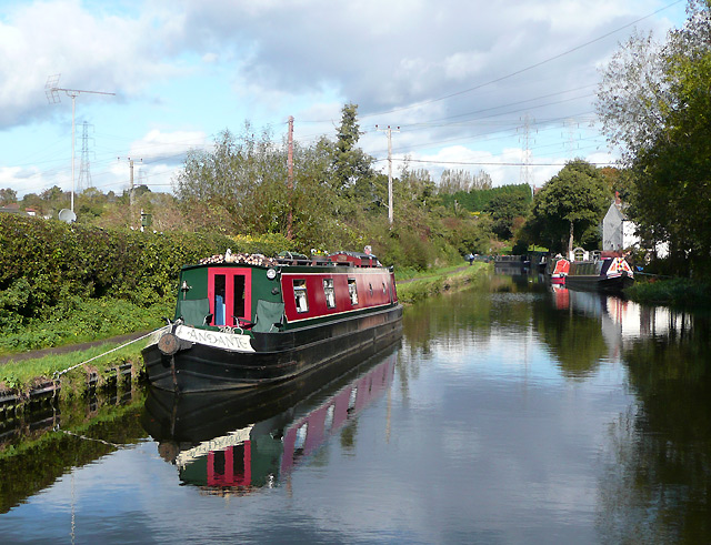 Staffordshire and Worcestershire Canal at Hinksford, Staffordshire - geograph.org.uk - 1023796