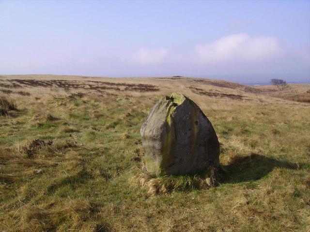 Standing Stone, Stony Marl Moor - geograph.org.uk - 391295
