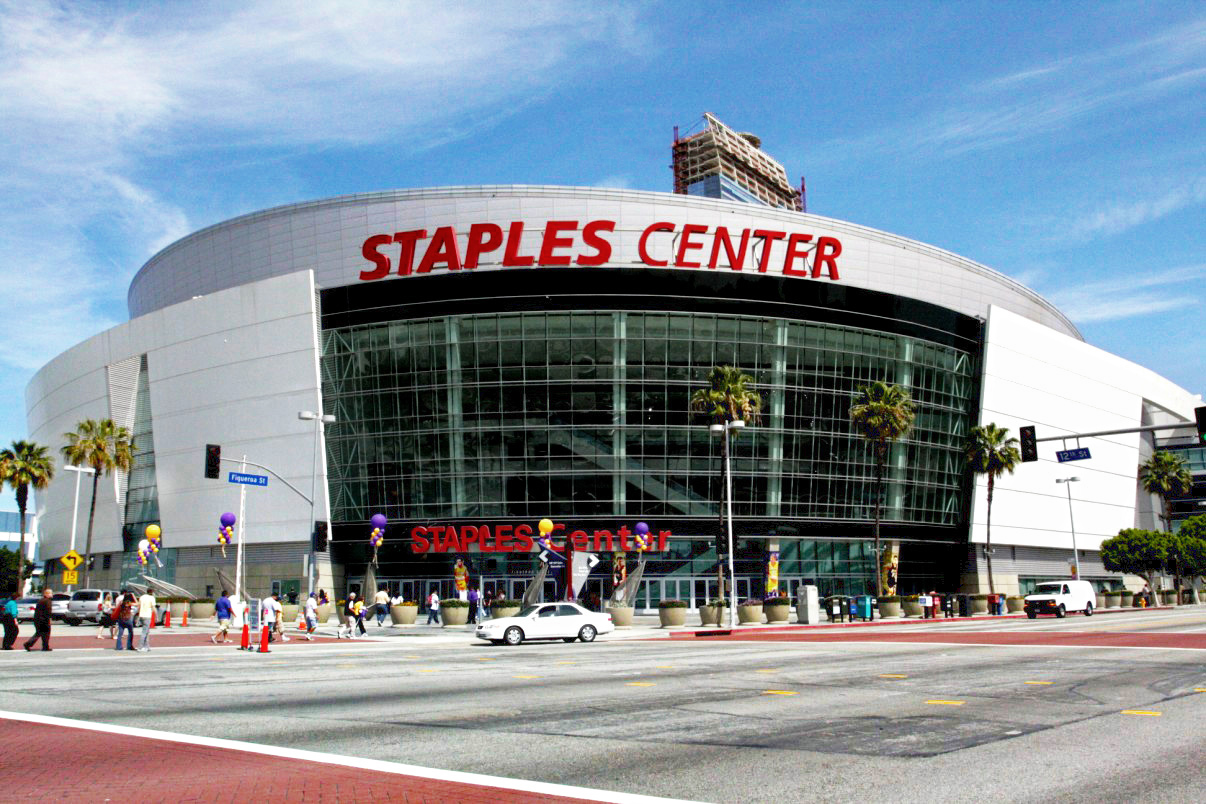 Staples Center, a premier venue for sports and entertainment, is home to five professional sports teams, most notably the Los Angeles Lakers