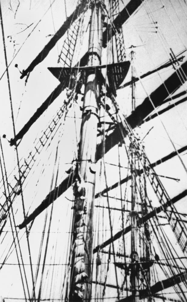 Mast der Pamir (Detail) - Quelle: WikiCommons