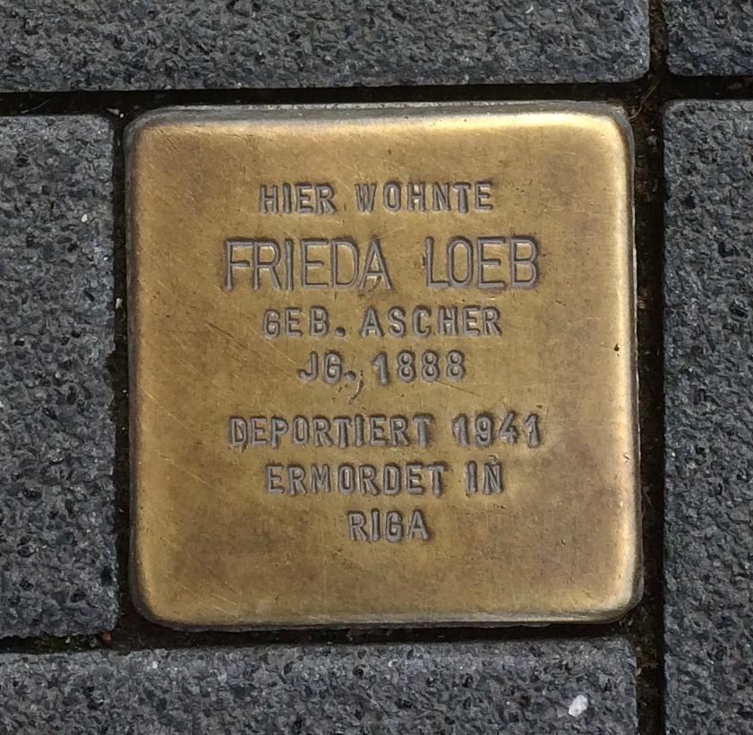 Stolpersteine Neuwied Langendorfer Straße 133 Frieda Loeb.jpg