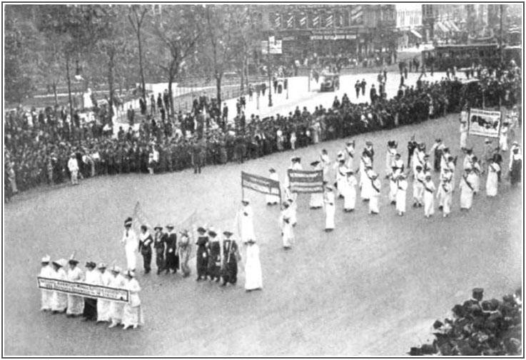 Suffrage parade in Washington