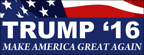 From commons.wikimedia.org: TRUMP 16 Make America Great Again sticker {MID-99339}