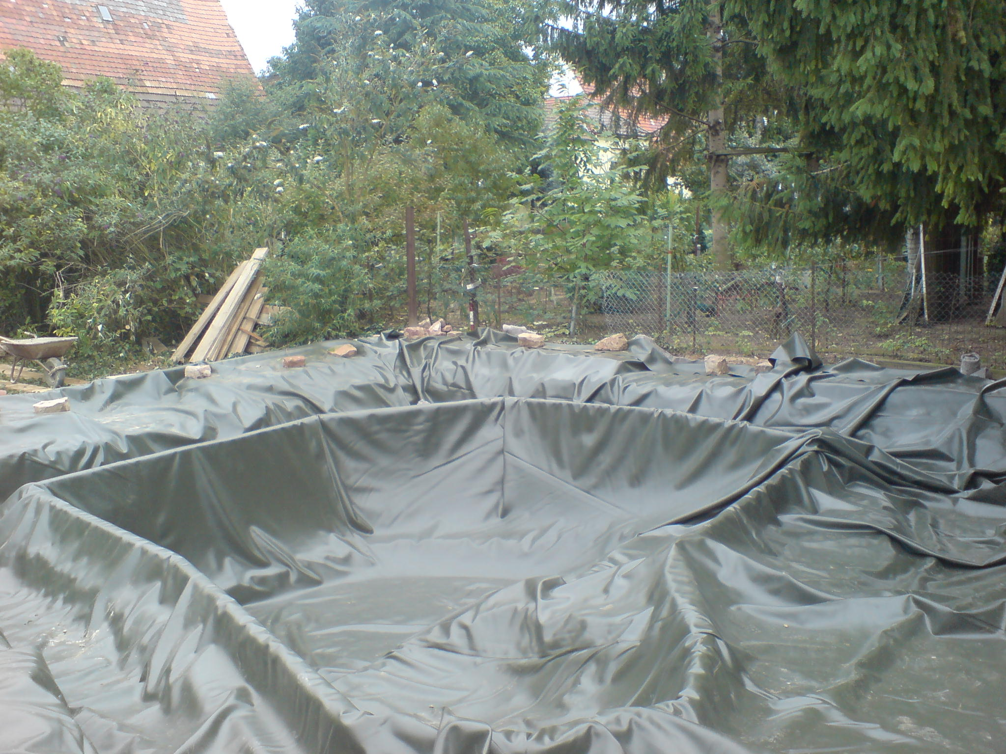 About pond liner for Koi pond liner