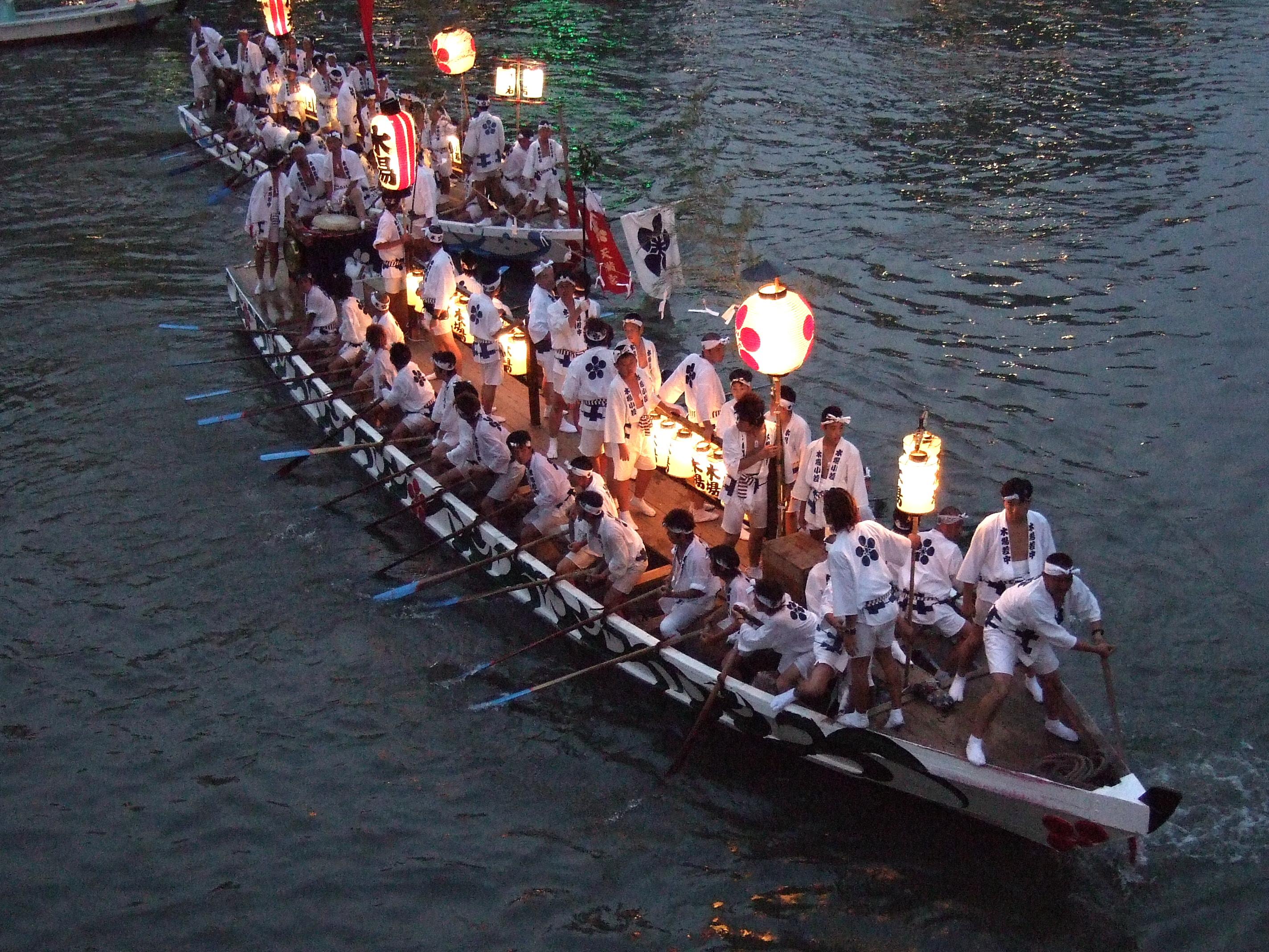 Resultado de imagen de festival tenjin matsuri di jepang