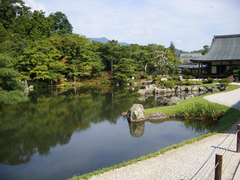 Zen Garden Of The Tenryu-ji Temple, Arashiyama Kyoto Japan Stock ...