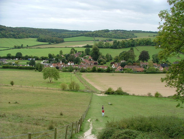 Turville Village from Turville Hill - geograph.org.uk - 242378