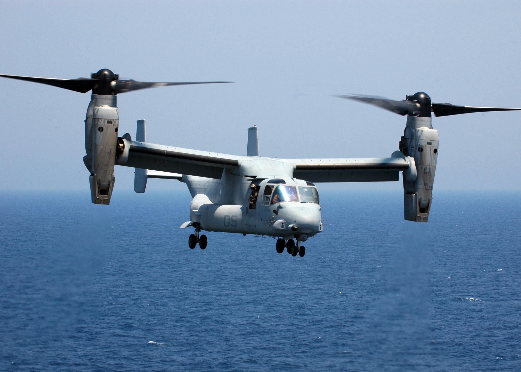 Конвертоплан MV-22 Osprey http://http://commons.wikimedia.org/ - ВМС США продолжают поиск члена экипажа конвертоплана MV-22 Osprey | Военно-исторический портал Warspot.ru