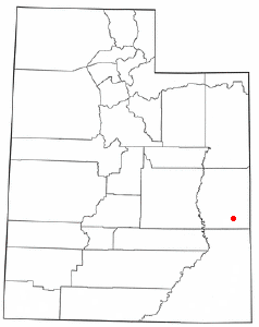 Location of Castle Valley, Utah