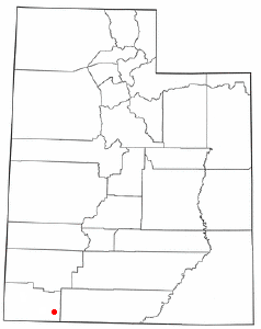 Location of Rockville, Utah