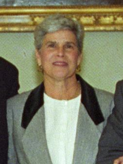 Violeta Chamorro in 1990 became the first woman president democratically elected in the Americas. Violeta Chamorro 1993.jpg