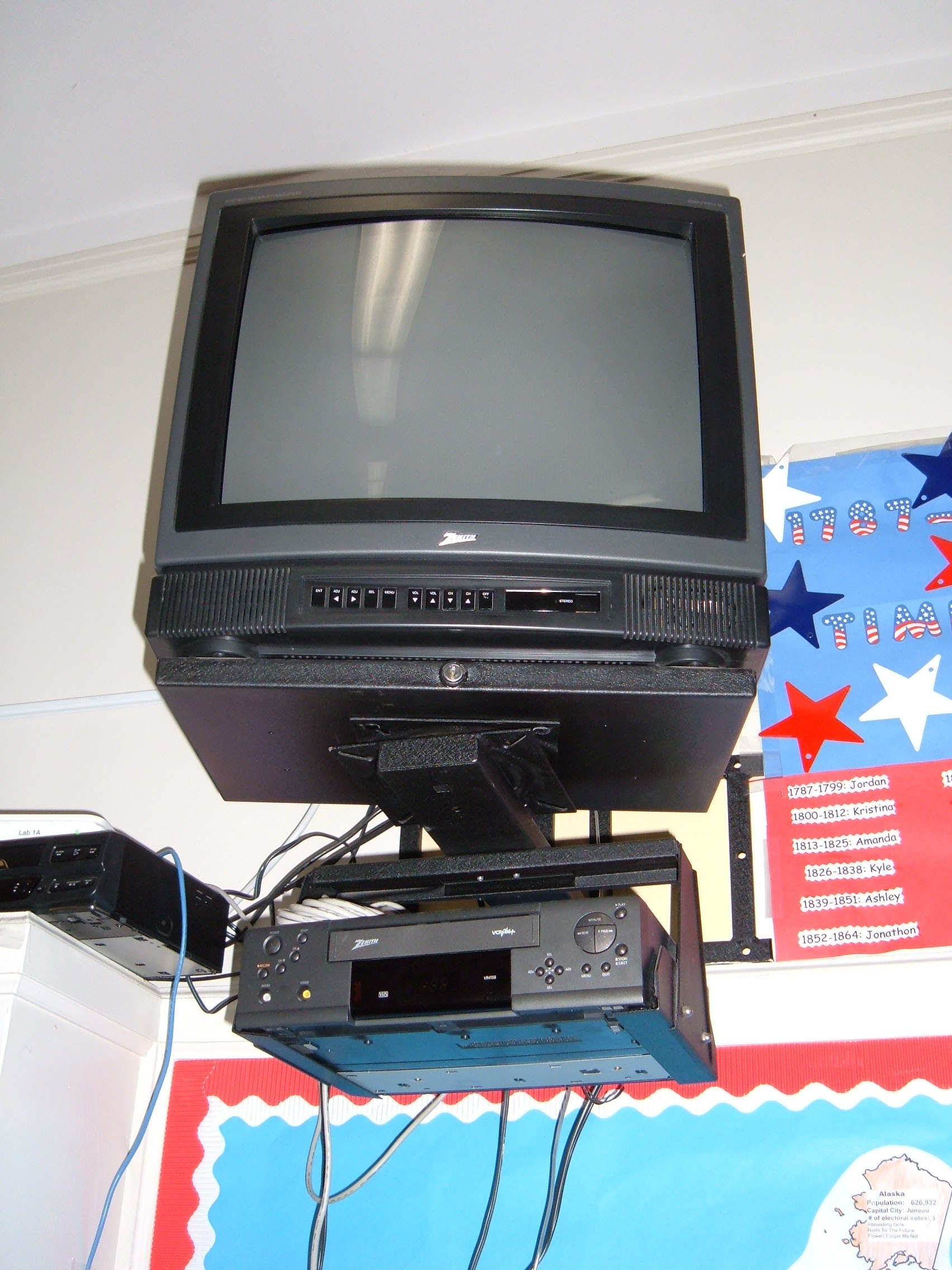 Chart Holder Wall Mount: Wall-mounted Zenith TV and VCR.JPG - Wikimedia Commons,Chart