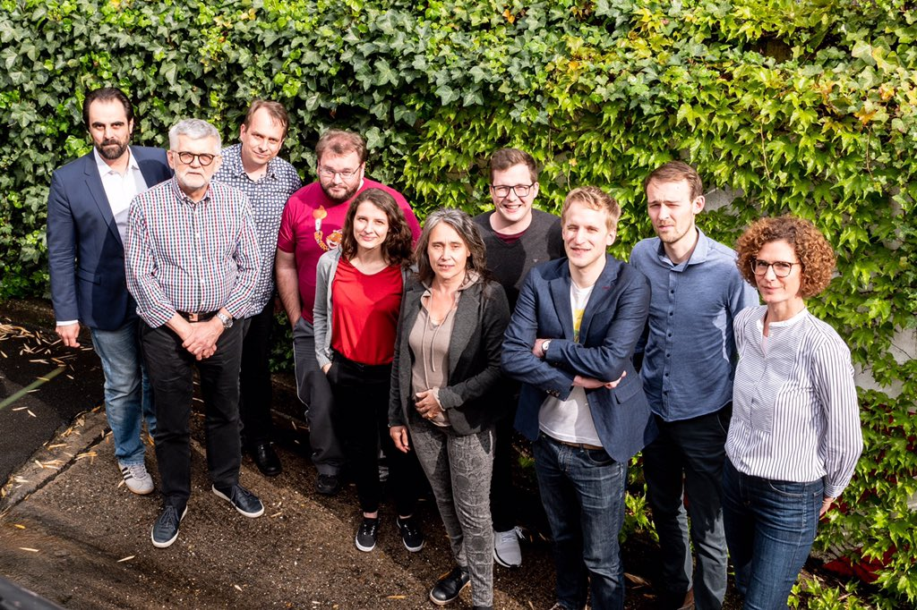 WMDE's ED and board: Abraham, Peter, Harald, Marcus, Helene, Sabria, Daniel, Lukas, Kilian, Mirjam (from left to right).