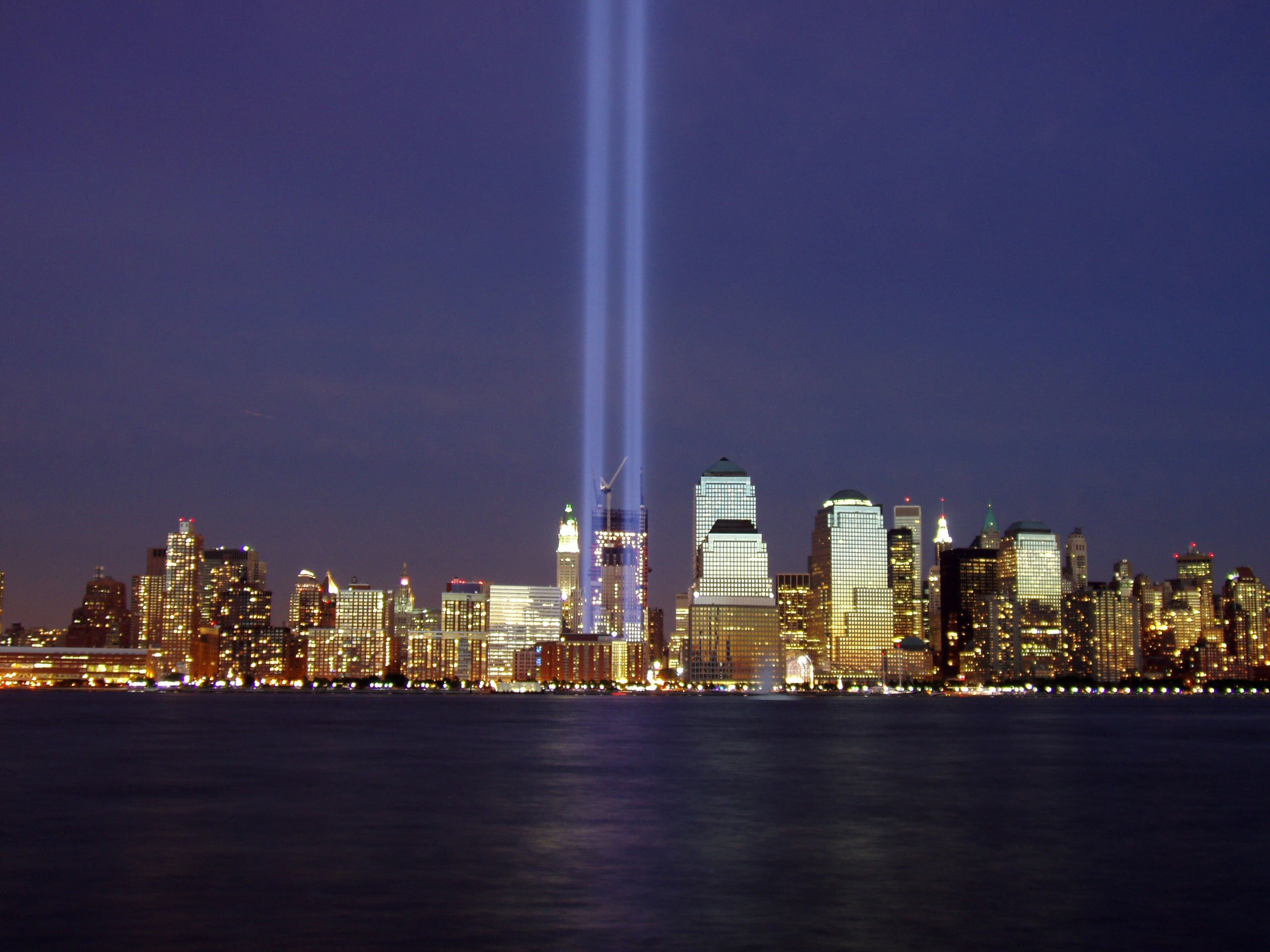 The Tribute in Light, a memorial where the Twin Towers once stood