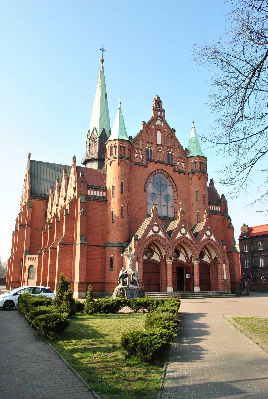 Kościół św. Józefa od strony ul. Gliwickiej