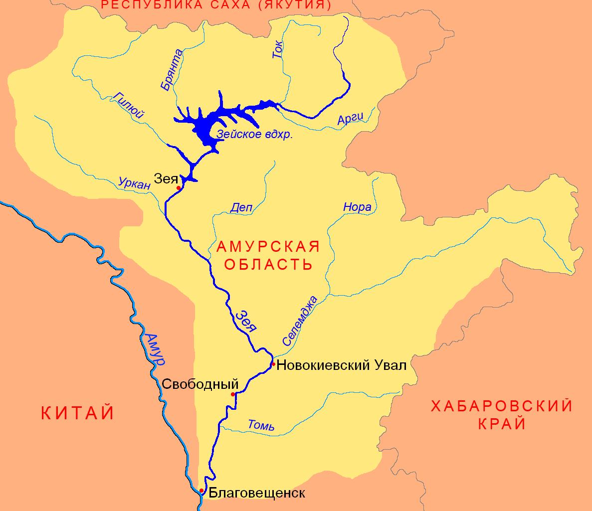 Куда впадает река томь схема