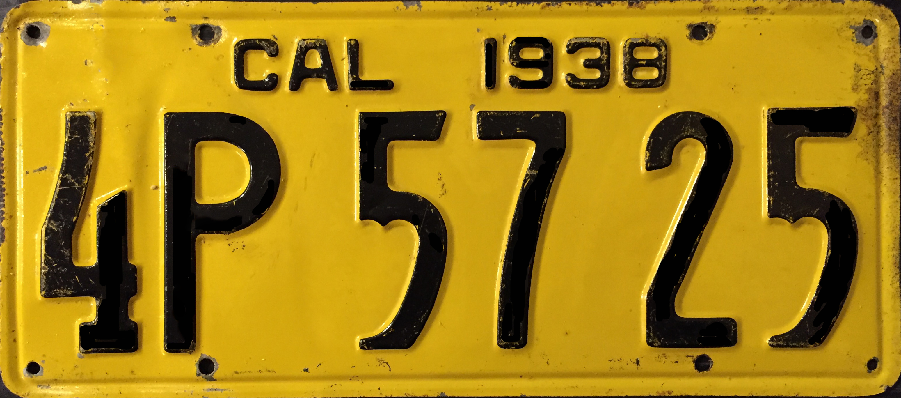 File1938 California License Plate 4p 57 25g Wikimedia Commons