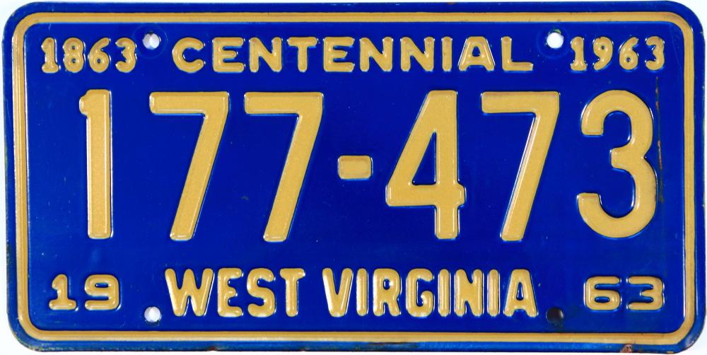 File:1963 West Virginia license plate.jpg - Wikimedia Commons