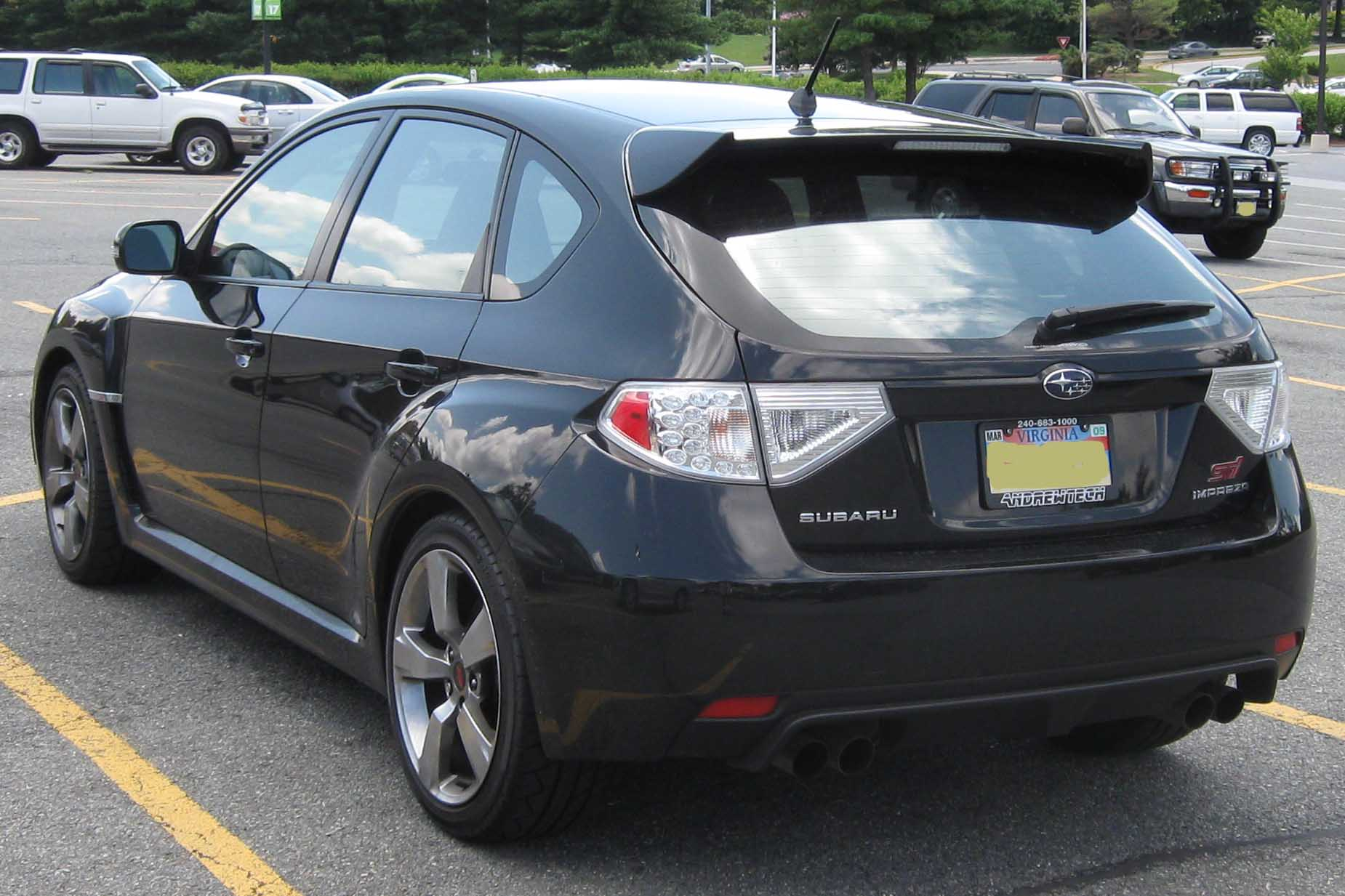 File 2008 Subaru Wrx Sti Rear Jpg Wikimedia Commons