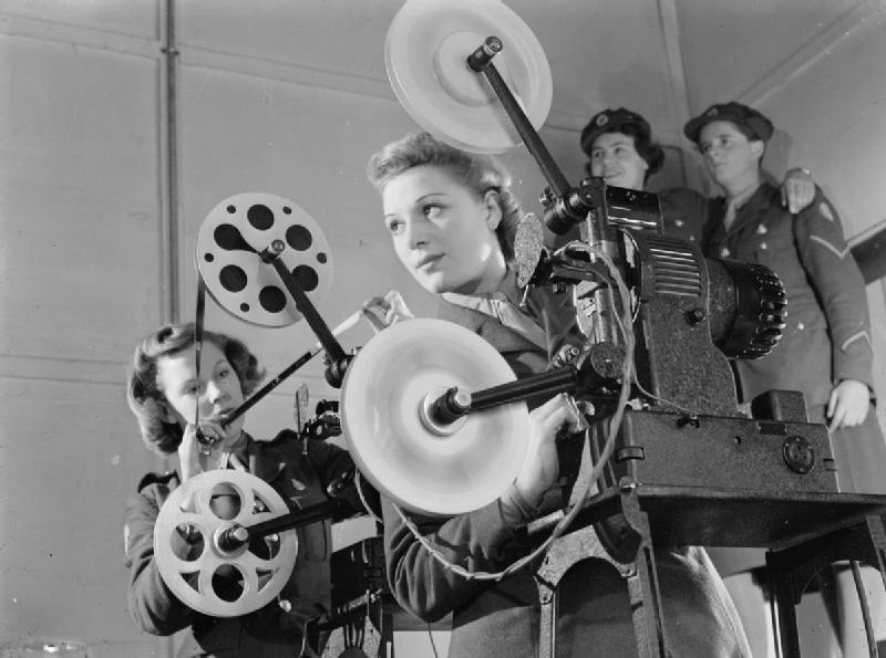 File Ats Cine Projector Operators Aldershot Hampshire England Uk