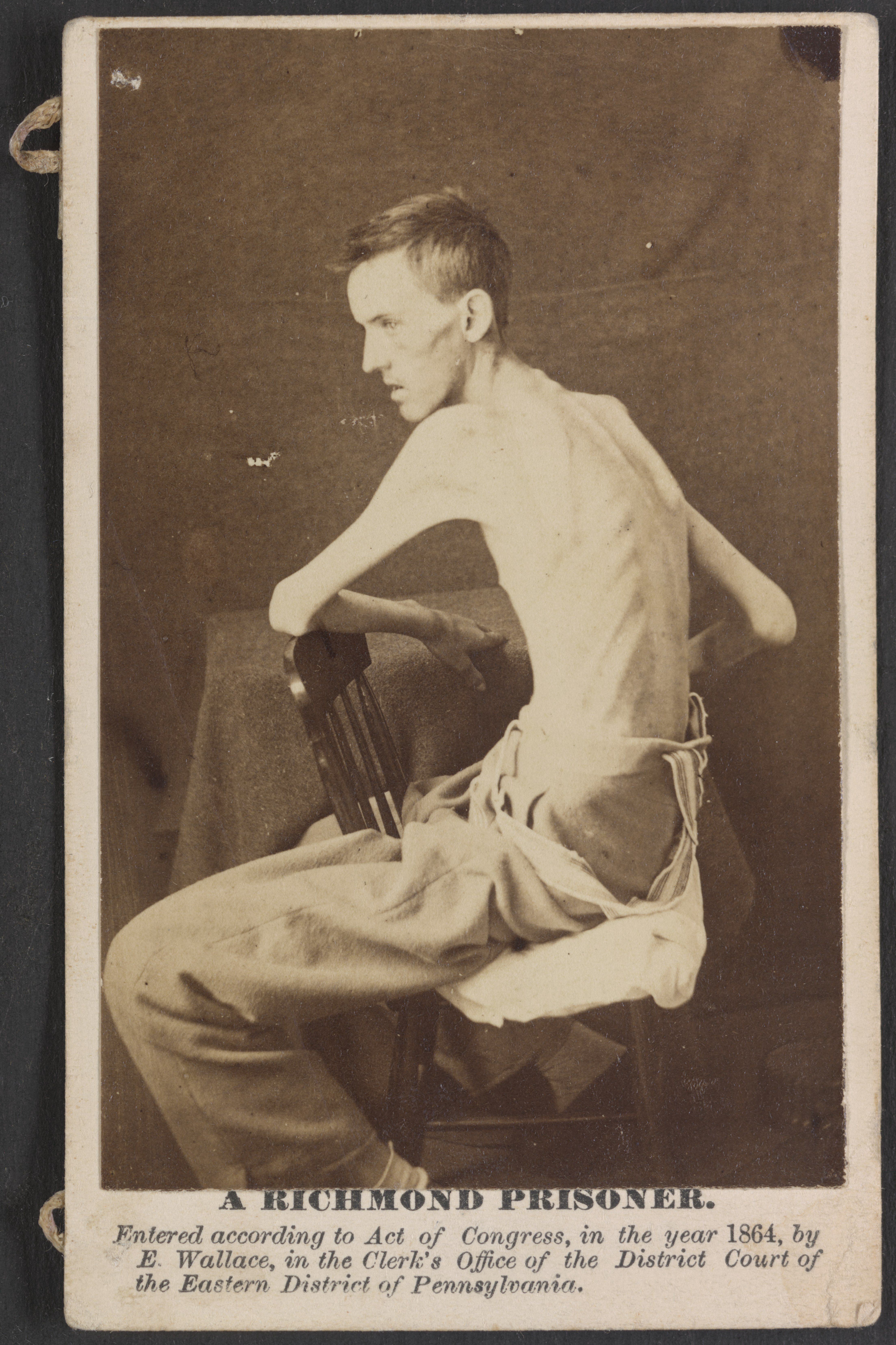FileA Richmond Prisoner US General Hospital Div No 1 Annapolis Md Private Jackson O Broshears Ie Brashears Co D Indiana Mounted Infantry
