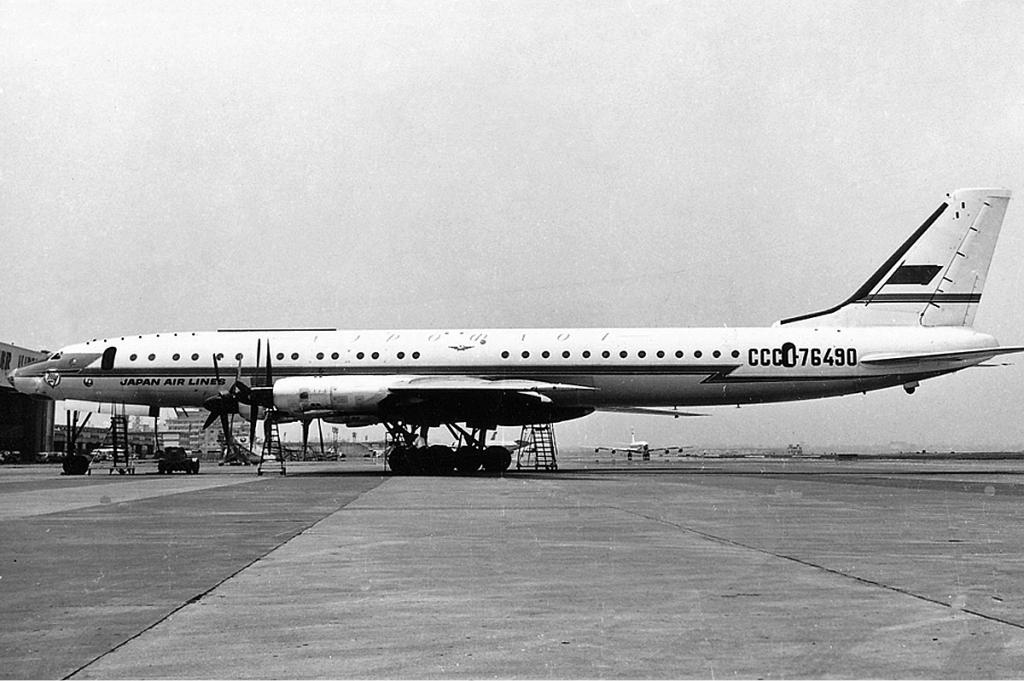 Aeroflot Tupolev Tu-114 JAL livery APM.jpg