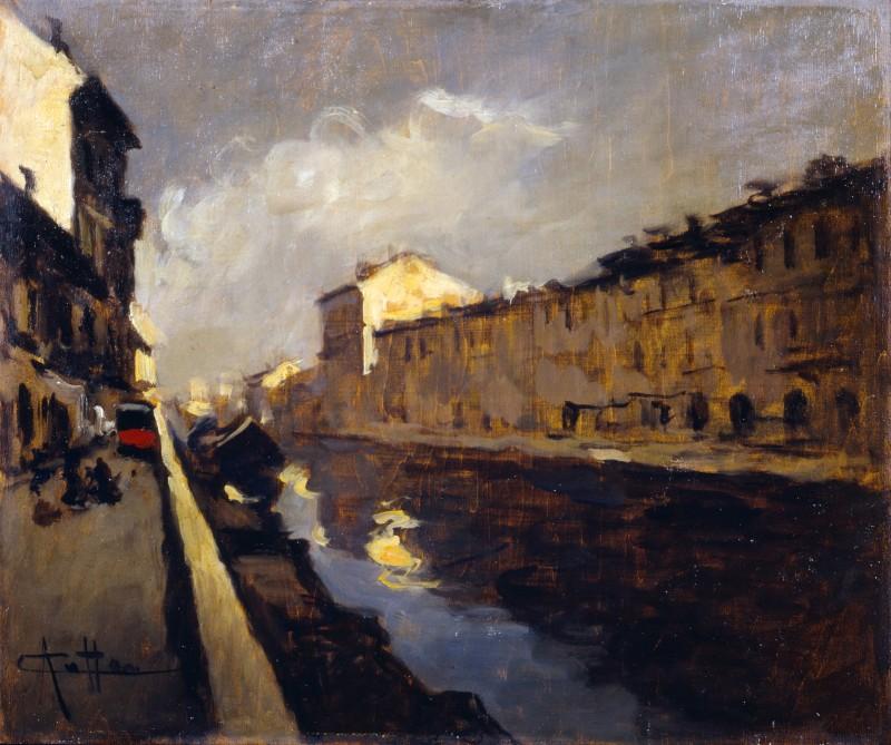 L'alzaia del Naviglio Grande a Milano