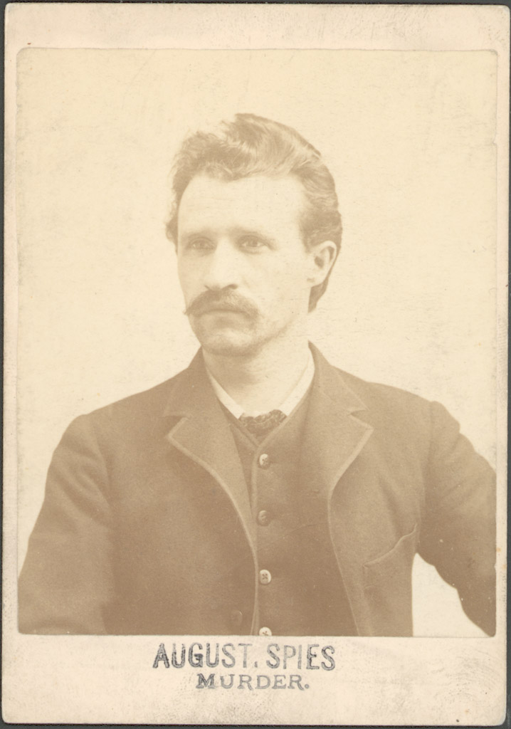August Spies as he appeared at the time of his conviction of conspiracy to commit murder in 1886.