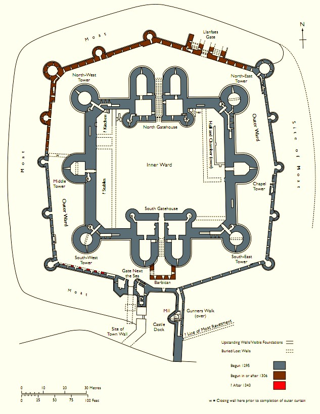 Beaumaris_plan%2C_Cadw concentric castle wikipedia