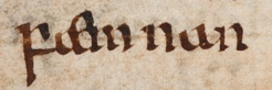 """faemnan,"" an Old English word for 'female' Beowulf - faemnan.jpg"