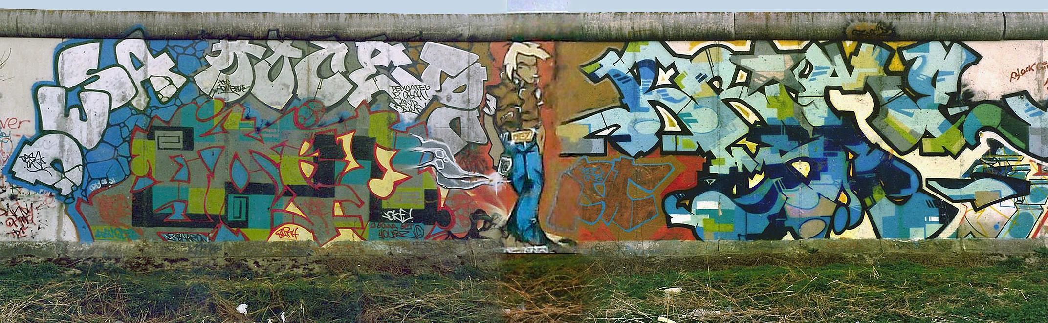 Grafiti wall berlin - Filename Berlin Wall Denots Crew Graffiti 1988 Jpg