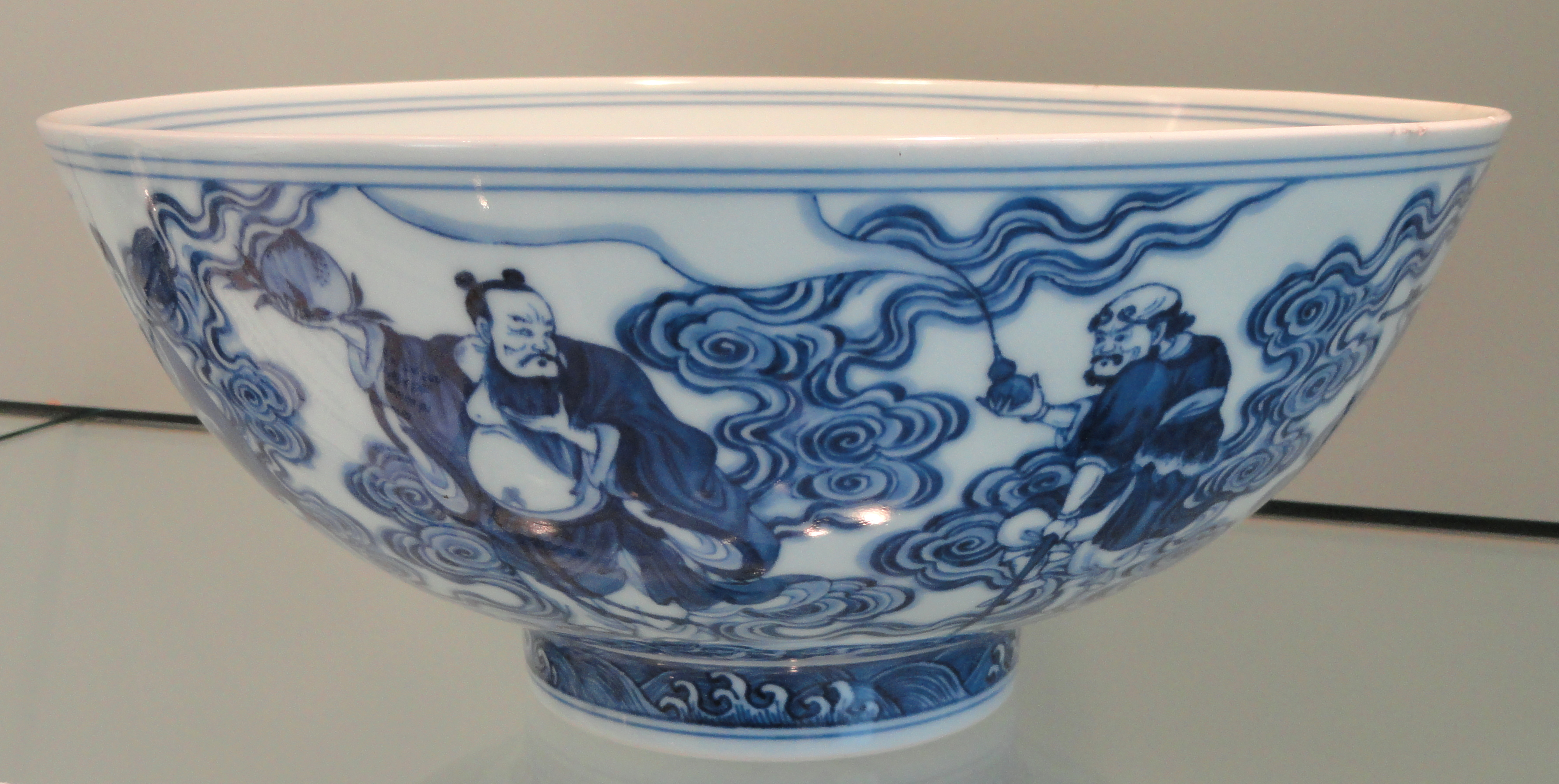 File Bowl With Eight Daoist Immortals Exterior Yongzheng