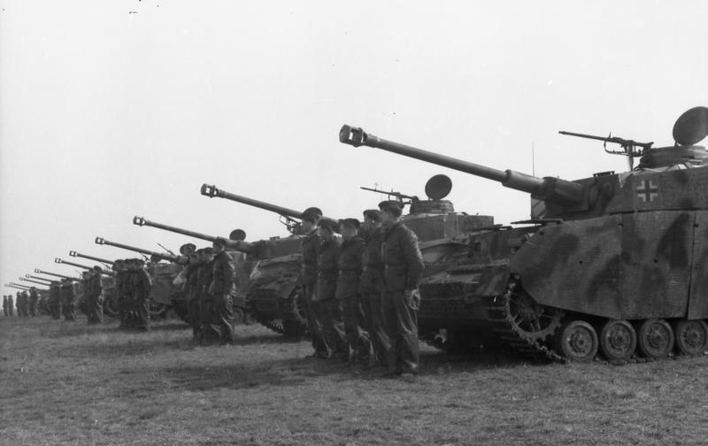 In March 1944 12. SS-Panzer-Division conducted a training exercise which was observed by Generalfeldmarschall Gerd von Rundstedt