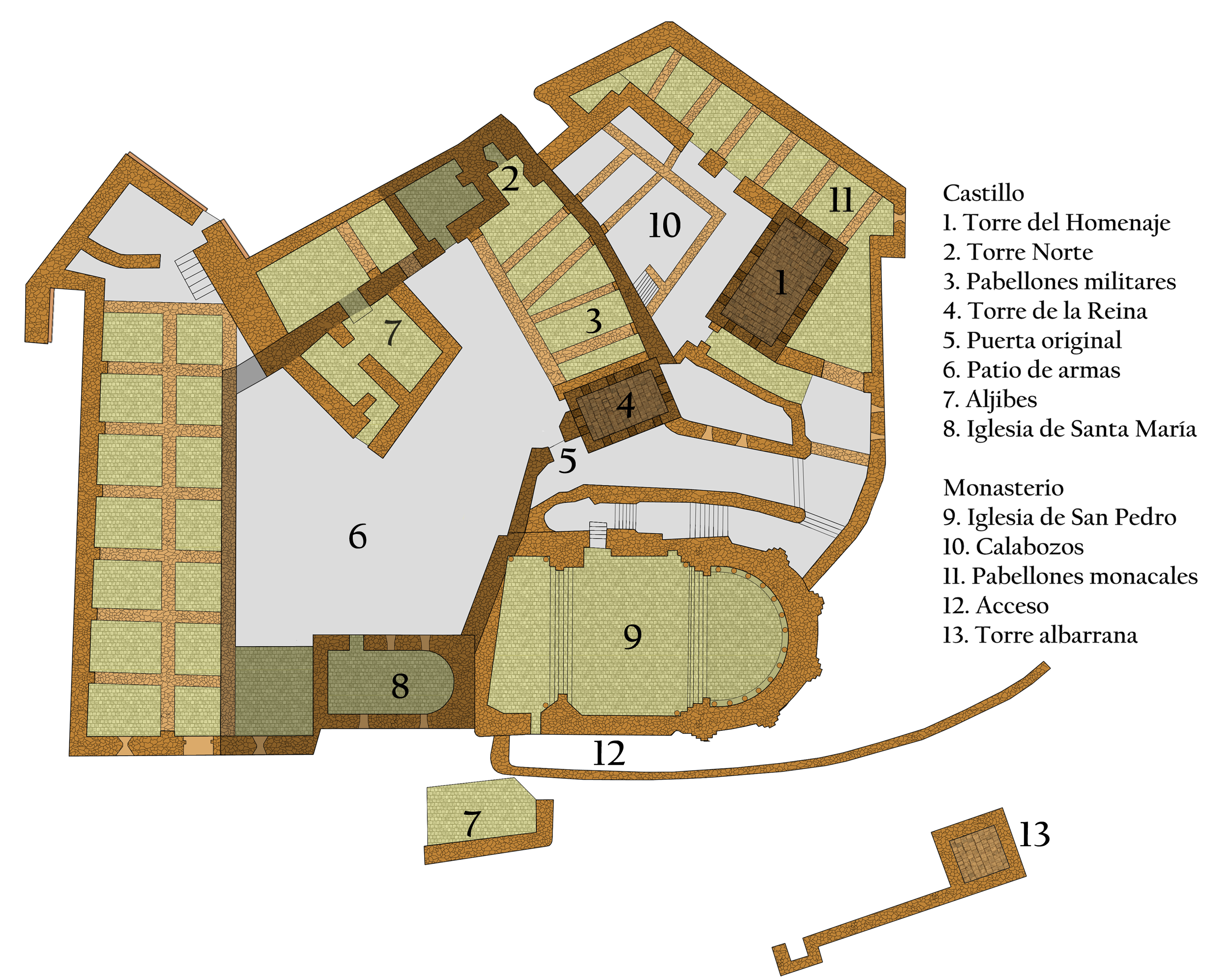 Archivo:Castillo de Loarre planta 2.png - Wikipedia, la ...