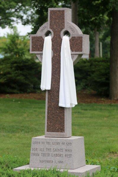 Celtic cross draped for Easter.jpg