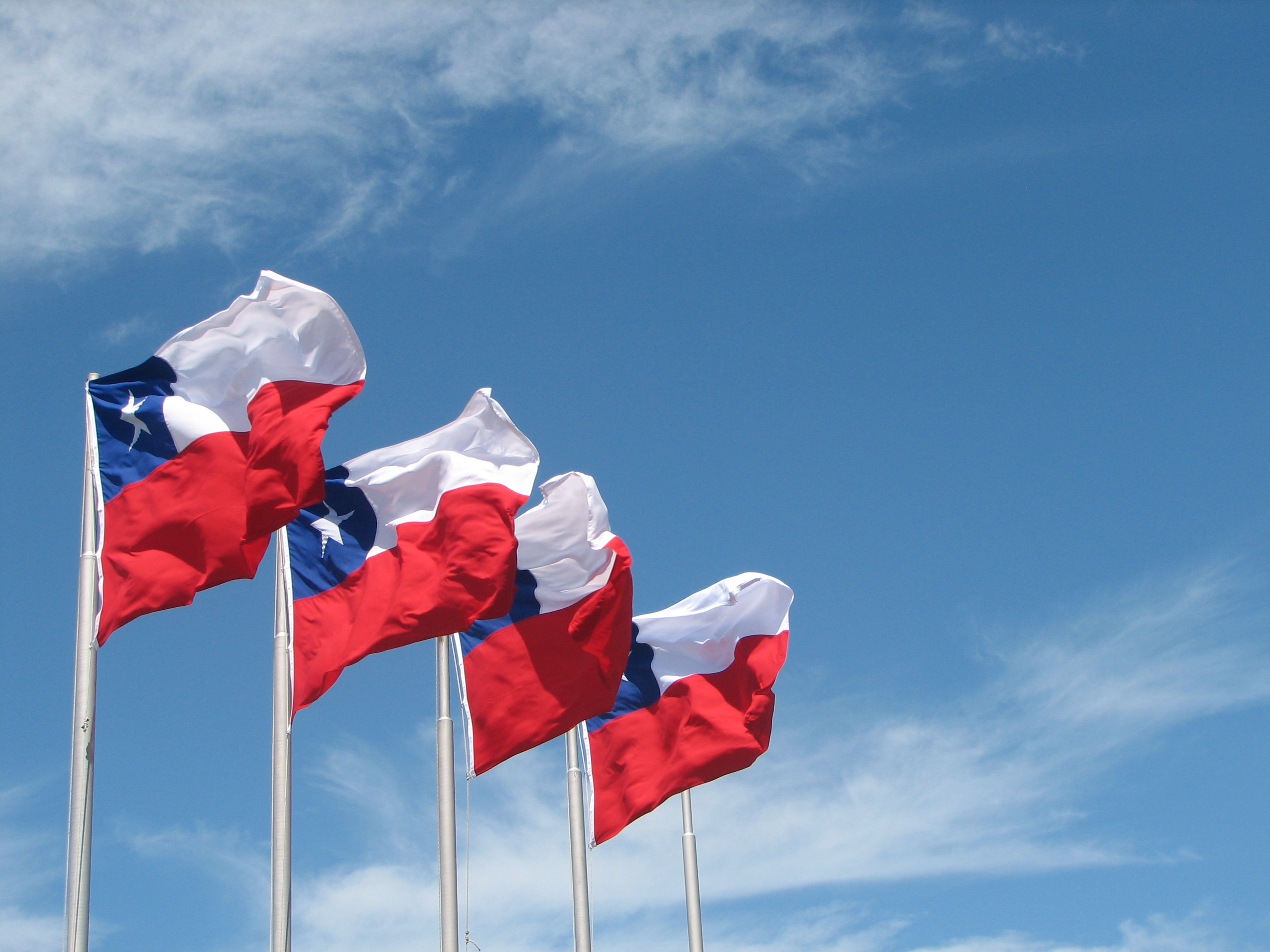 Description Chile Flags In Puerto Montt
