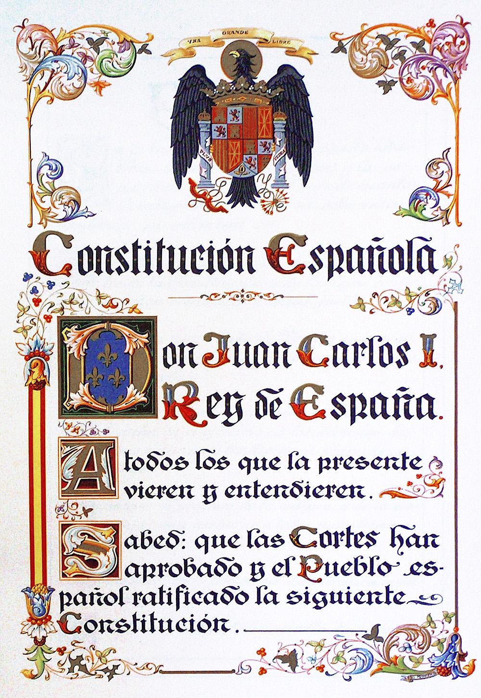 Constitución Española De 1978 Wikipedia La Enciclopedia Libre