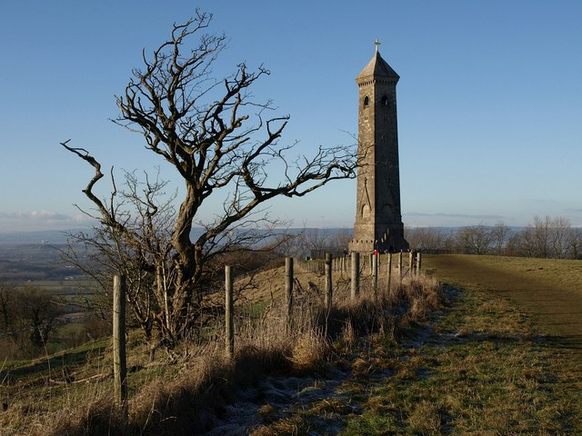 Cotswold Way approaching Tyndale Monument - geograph.org.uk - 1654228