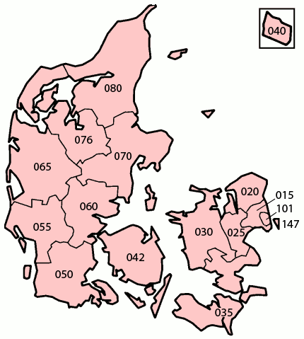 plz karte dänemark File:Denmark numbered by old ISO 3166 2 01.png   Wikimedia Commons